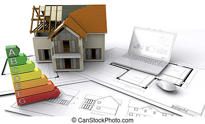Under construction - Contemporary style house under...