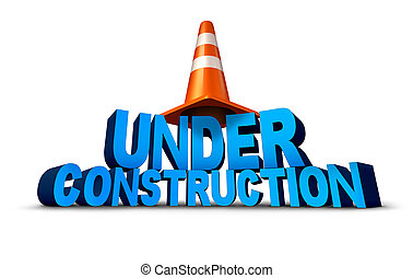 Under Construction - Under construction symbol as three...