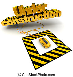 Under construction - 3D illustration of the word under...