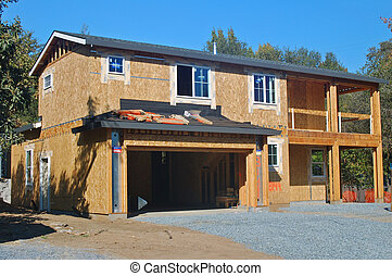 Under Construction - A house under construction