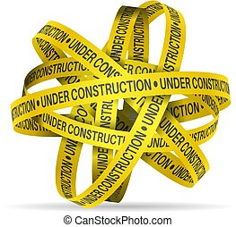 Under construction tape