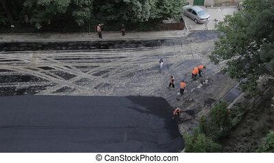 Under construction, time lapse asph