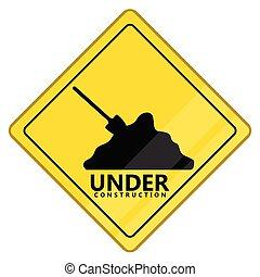 Under construction transit signal. Vector illustration...