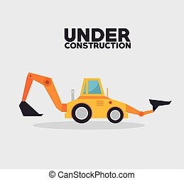 under construction truck machinery