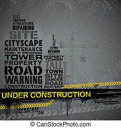 Under Construction Typography - illustration of under...