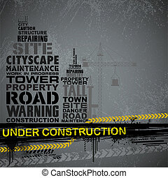 Under Construction Typography - illustration of under...