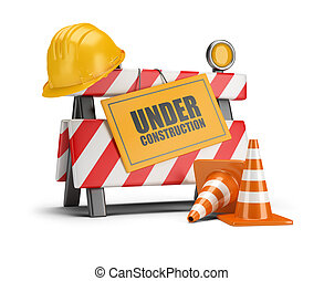 under construction - Under construction barrier. Traffic...