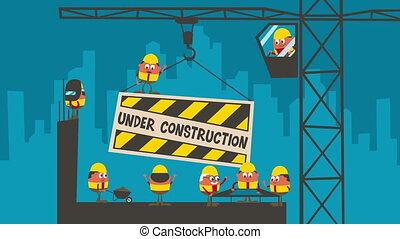 Under Construction - Under construction cartoon.