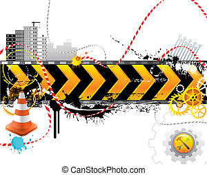 Under construction for internet web page vector layered.