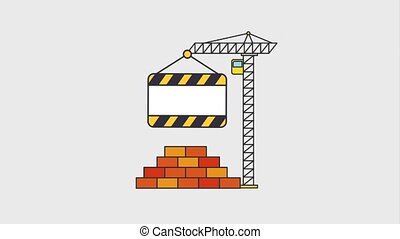under construction website animation hd