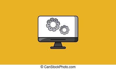 Under construction website HD animation