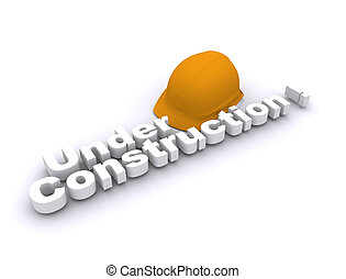 under construction with cap