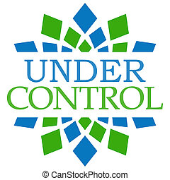 Under Control Blue Green Square