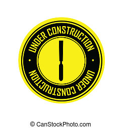 abstract special under construction label on white background