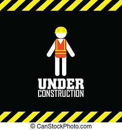 abstract under construction symbol on special background