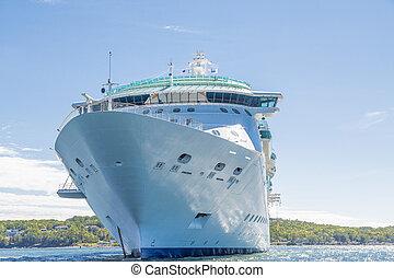 Under Hull of Cruise Ship