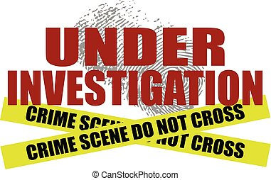 Under Investigation With Crime Scene Tape