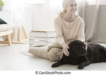 under, le womanen, terapi, hund