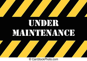 Vector industrial design of Under maintenance sign.