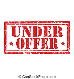Under Offer-stamp - Grunge rubber stamp with text Under...