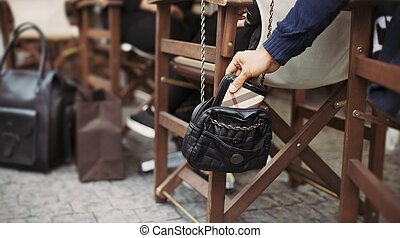 under, pickpocketing, gata, cafe, dag