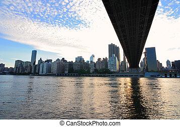 Underneath the Queensboro Bridge in New York City