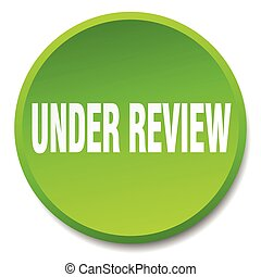 under review green round flat isolated push button