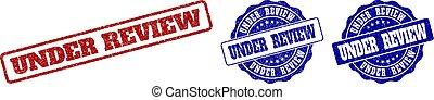 UNDER REVIEW Grunge Stamp Seals