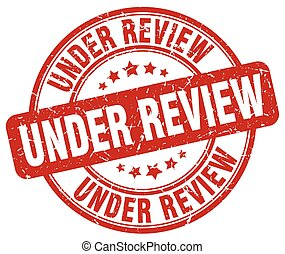 under review red grunge round vintage rubber stamp