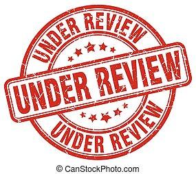 under review red grunge round vintage rubber stamp