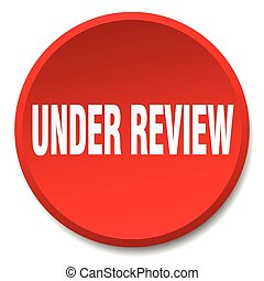 under review red round flat isolated push button