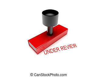 under review rubber stamp 3d illustration