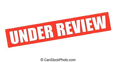 Rubber stamp with text under review inside, vector illustration