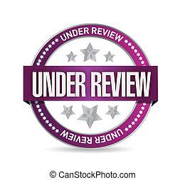 under review seal illustration design
