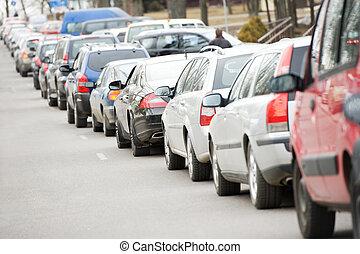 under, rush, trafik, timme