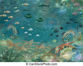 Under seascape sea life