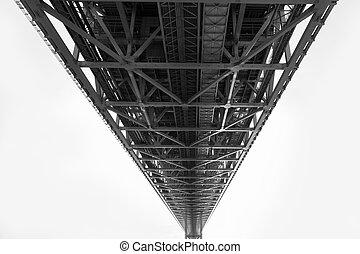 Under steel bridge construction