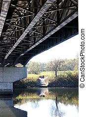 Under the bridge - A view looking across Lake Taneycomo from...