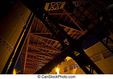 Under the Bridge in Industrial Area