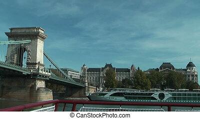 Under  the chain bridge  Budapest