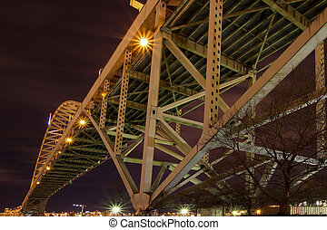 Under the Fremont Bridge at Night