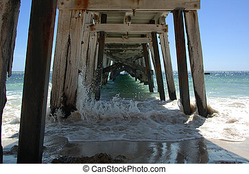 Under the Jetty - Under the Port Rickaby jetty, South...