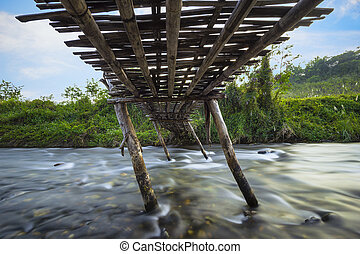 UNDER THE OLD WOODEN BRIDGE
