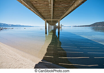 Under the Pier at Lake Tahoe