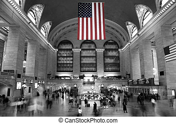 Under the Stars and Stripes - Commuters under the Stars and...