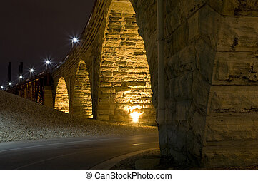Under the Stone Arch Bridge
