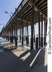 Under the Ventura Pier in Southern California