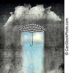 Under the Weather is Wonderful - A surreal image of an...