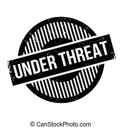 Under Threat rubber stamp. Grunge design with dust...