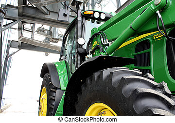 under, traktor, silo